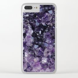 Amethyst Delight Clear iPhone Case