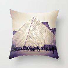 The Purple Pyramid Throw Pillow