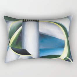 Variation on a Lighthouse landscape painting by Ida O'Keeffe Rectangular Pillow