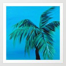 Palm Oasis Art Print