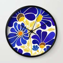 The Happiest Flowers Wall Clock