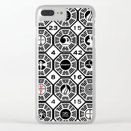 Dharma Station and The Numbers Clear iPhone Case