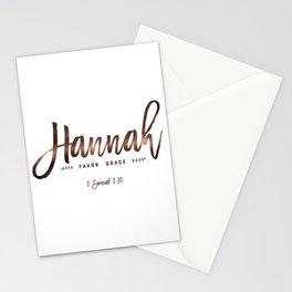 Christian name | Hannah Stationery Cards