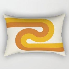 Retro Curves II Rectangular Pillow