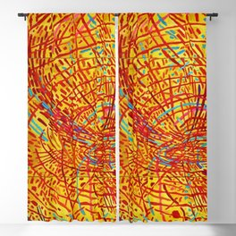 African American Masterpiece 'Magnetic Fields' by Mildred Thompson Blackout Curtain