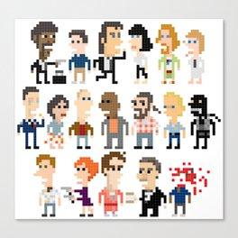Pulp Fiction Iotacons Canvas Print
