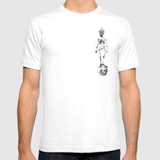 The King White MEDIUM Mens Fitted Tee