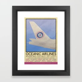 Silver Screen Tourism: OCEANIC AIRLINES / LOST Framed Art Print
