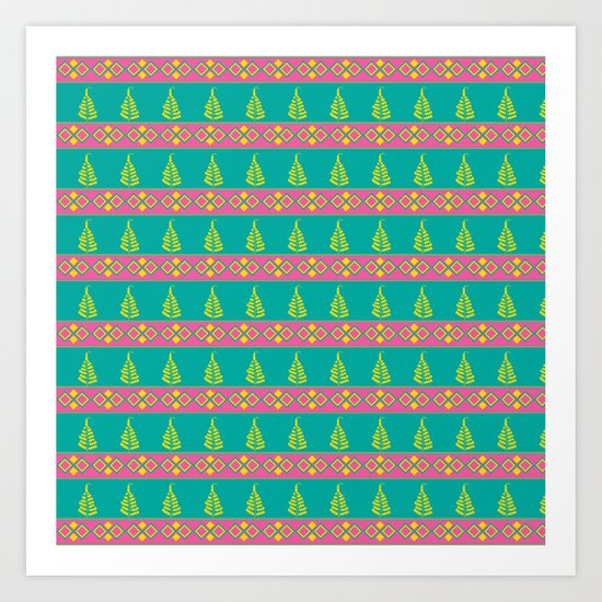Leaves and Borders Art Print