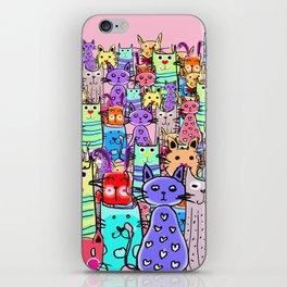 Cat world iPhone Skin