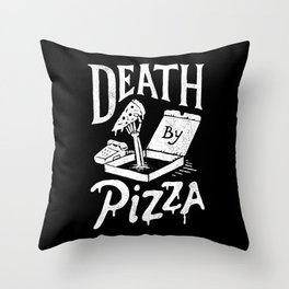 Death by Pizza Throw Pillow