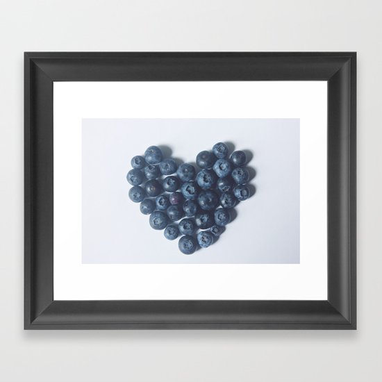 Blueberry Love Framed Art Print