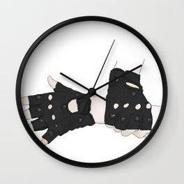 Biker Gloves Wall Clock