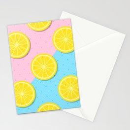 Lemon slices pattern Stationery Cards