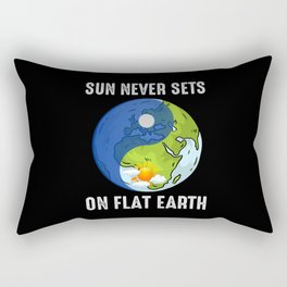Sun Never Sets On Flat Earth - Flat Earth Theory Rectangular Pillow