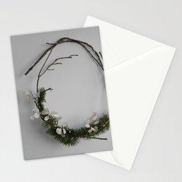Minimalist Rustic Holiday Wreath Stationery Cards