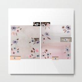 Flower Collage Metal Print