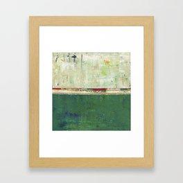 Limerick Irish Ireland Abstract Green Modern Art Landscape Framed Art Print