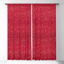 Red Glitter Blackout Curtain