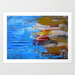 Beach Tide Acrylics On Stretched Canvas Art Print