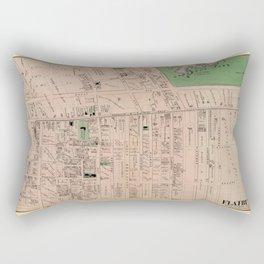 Map of Flatbush 1873 Rectangular Pillow