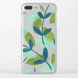 Simple Leaves Clear iPhone Case