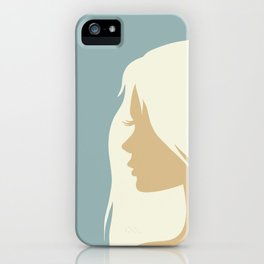 blonde girl in profile iPhone Case