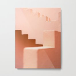 Muralla Roja | Abstract Coral steps in the South of Spain | Travel photography Metal Print