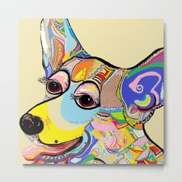 Corgi Close Up Metal Print