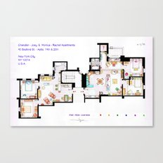 FRIENDS Apartments Floorplan Canvas Print