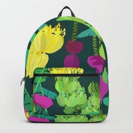 Banana Bunches in Dark Green Backpack