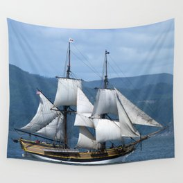 The Ocean in the Sky, sailboat, pirates Wall Tapestry