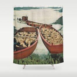 Fleece Shower Curtain