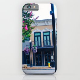 Courthouse Square in Summer iPhone Case