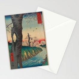 Hiroshige - 36 Views of Mount Fuji (1858) - 12: Koganei in Musashi Province Stationery Cards