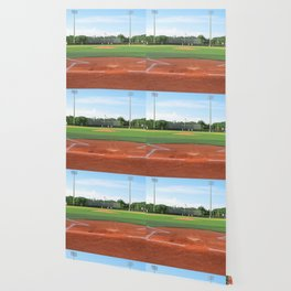 Play Ball! - Home Plate - For Bar or Bedroom Wallpaper