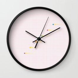 Checked Pattern_J Wall Clock