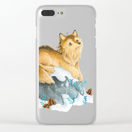 Dreamy Wolf Clear iPhone Case
