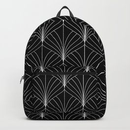 Art Deco Black And White Geometric Sophisticated Pattern Backpack