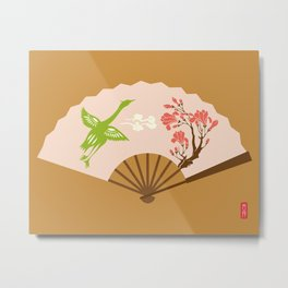 Chinese Antique - fan Metal Print