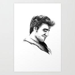 Robert Pattinson Inspired Sketch Art Print