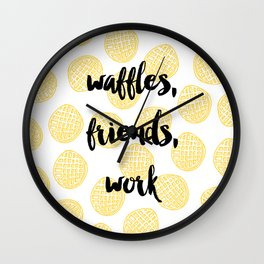 Waffles for Life Wall Clock