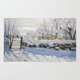 1869-Claude Monet-The Magpie -89 x 130 Rug