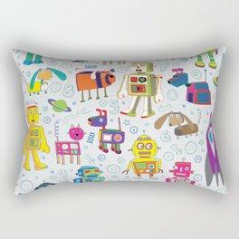 Robots in Space Rectangular Pillow