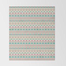 Ethnic , ornament , tribal , pastel Throw Blanket