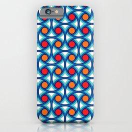 Geometric Pattern 169 (retro summer) iPhone Case