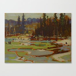 Tom Thomson Portage, Ragged Lake 1917 Canadian Landscape Artist Canvas Print