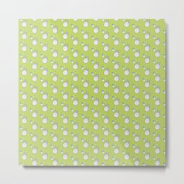 My Neighbor Pattern (Green) Metal Print