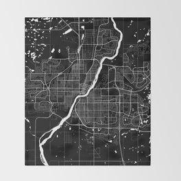 Saskatoon - Minimalist City Map Throw Blanket