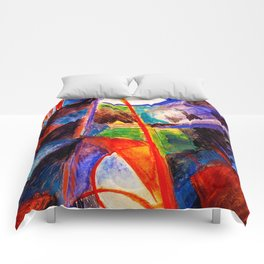 Abstact by Franz Marc Comforters